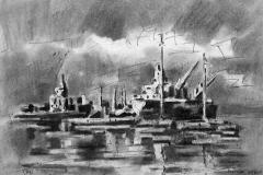 Κάρβουνο 2010 λιμάνι 48X38